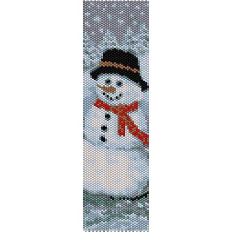 beaded peyote bracelet pattern snowman 2 peyote bead pattern bracelet cuff