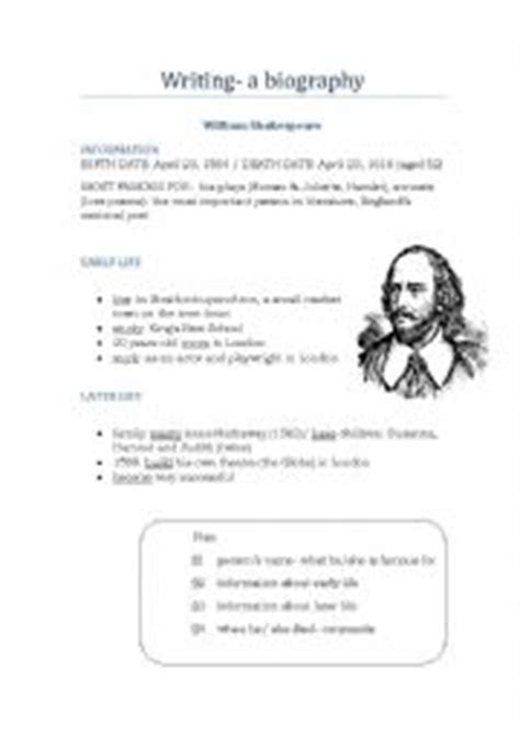 short biography exercises english worksheet how to write a biography
