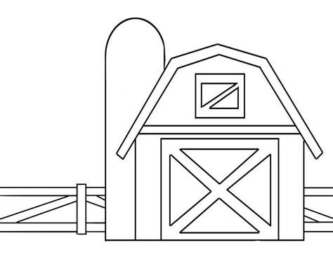 scheune zeichnung desenho de cerca da fazenda para colorir tudodesenhos