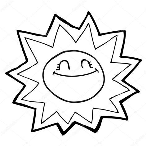 imagenes sol negro sol feliz de dibujos animados blanco y negro vector de