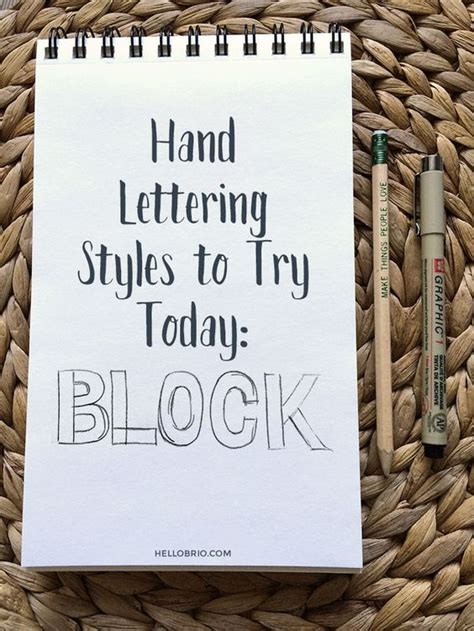 9 Activities To Try Today by Lettering Styles To Try Today Part 1 Block Lettering