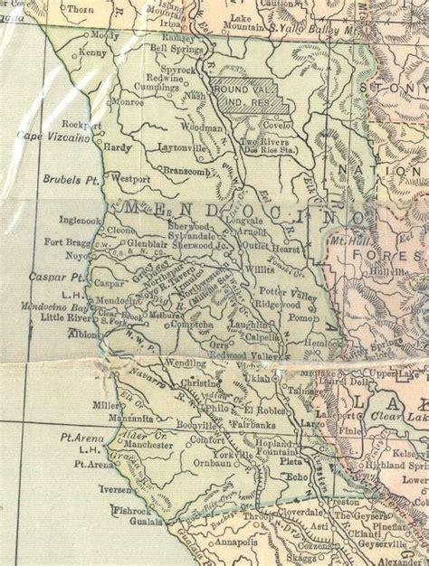 Mendocino County Records 1914 Map