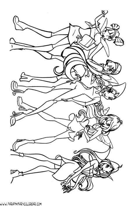 imagenes para colorear winx club dibujos para colorear de winx club 081