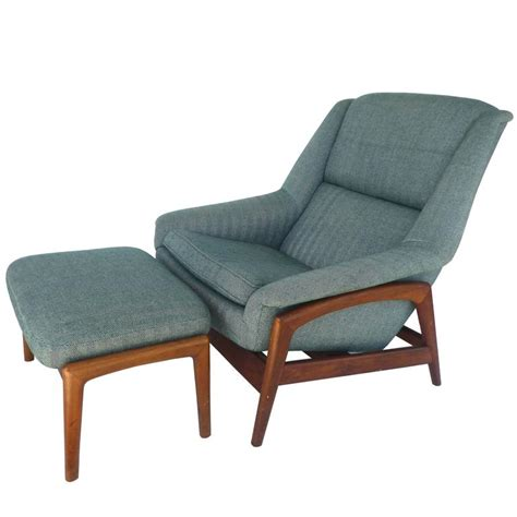 reclining club chair and ottoman dux reclining lounge chair and ottoman at 1stdibs
