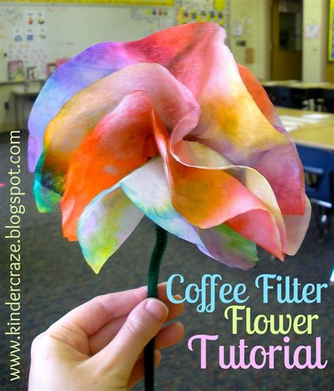 How To Make Paper Flowers Out Of Coffee Filters - coffee filter flowers tutorial