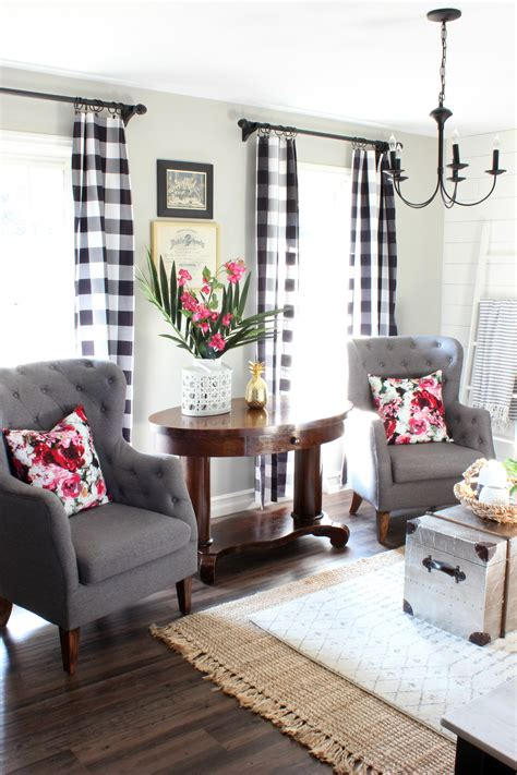 Plaid Curtains And Drapes 2017 Summer Home Tour Hymns And Verses