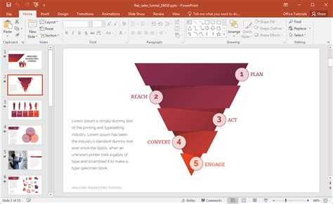 powerpoint sle templates free animated flat sales funnel powerpoint template
