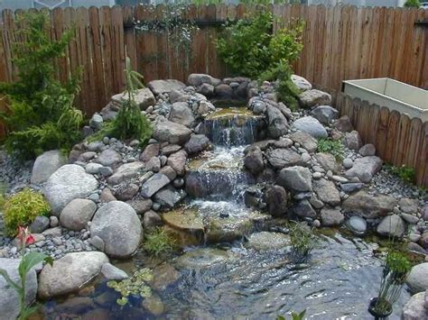 landscape water features mini waterfall with rockery ponds pinterest minis