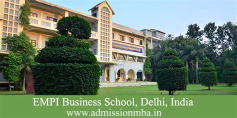 Empi Mba empi chattarpur empi business school delhi empi mba course