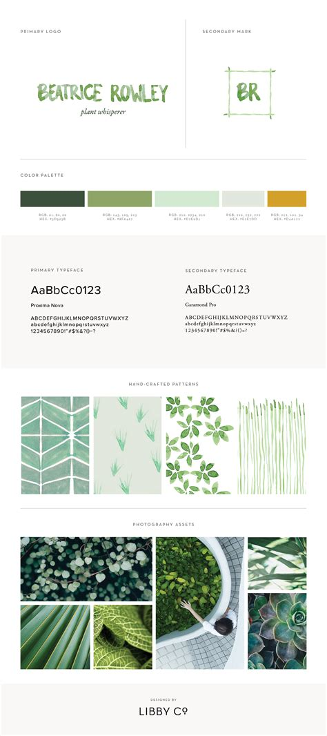 Branding Style Guide Template by Free Brand Style Guide Template Libby Co Boutique