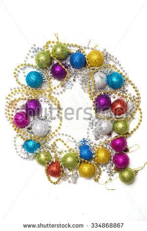 Letter Tree Decorations by Letter Laid Out Tree Decorations Stock Photo 334868855