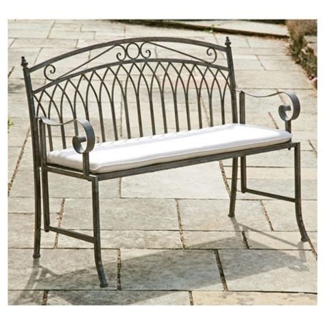 versailles garden bench buy versailles garden bench cushion natural from our cushions range tesco