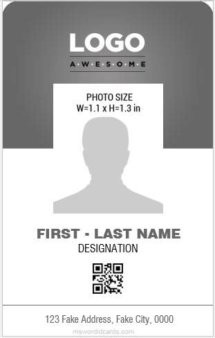 id card design in word format employee id card template microsoft word vertical best