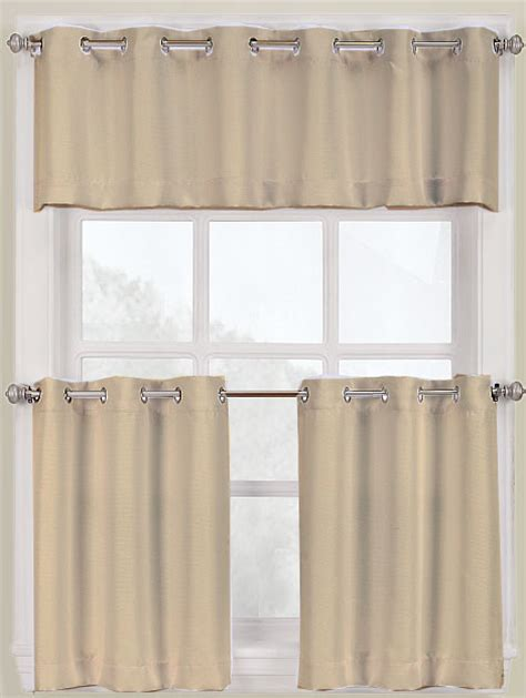montego grommet kitchen curtains white lichtenberg