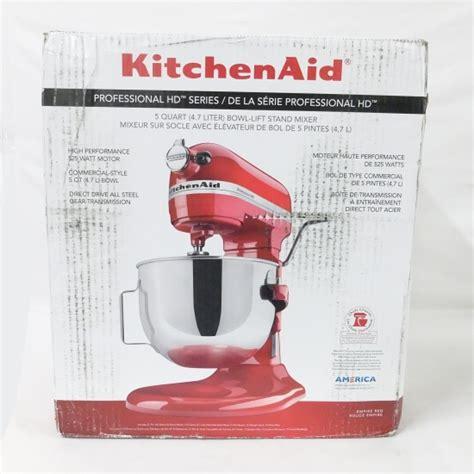 Kitchenaid Professional Hd Attachments Kitchenaid Professional Hd 5 Quart Stand Mixer Ebay