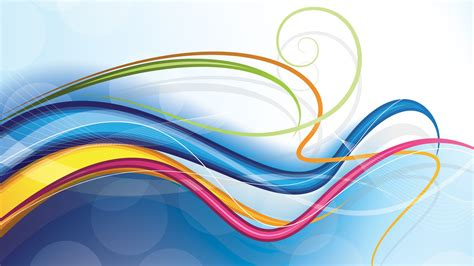 digital art abstract colorful wavy lines wallpapers hd