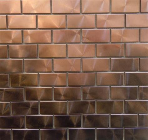 modern twist with 1 quot x 2 quot copper tiles can you say bar