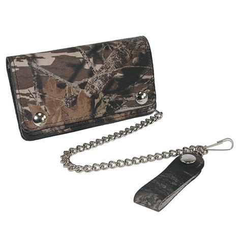 Chain Wallet by Mens Leather Camouflage Print Chain Wallet By Ctm 174 Chain