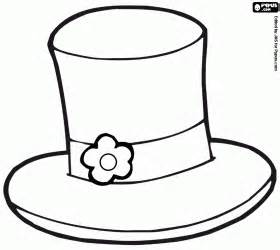 coloring page of a top hat top hat coloring page free coloring pages on art