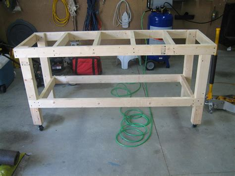 garage work table eaa workbench completed andrew s rv 7 build log