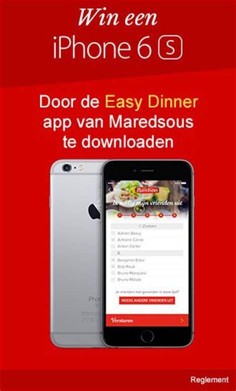 dinner app win een iphone 6 door de easy dinner app maredsous te