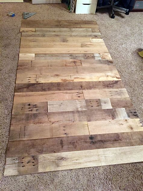 reclaimed wood divider diy reclaimed wood wall frugal novice