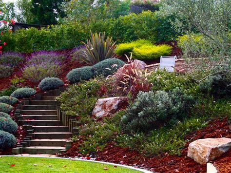 landscaping ideas for hillside backyard hill landscaping ideas hillside steps pretty wide