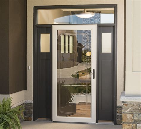 exterior door with screen retractable screen security doors larson