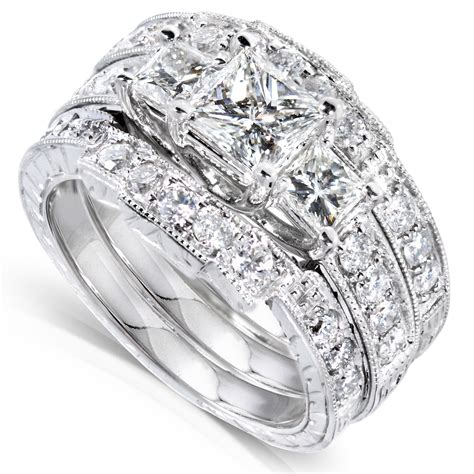 Diamond Me Diamond Engagement Ring and Wedding Band Set 1