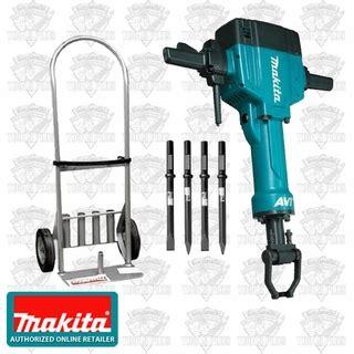 makita hm1810x3 70 lb avt breaker hammer plus bonus cart 4 bits