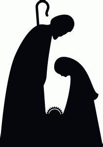 imagenes de siluetas del nacimiento de jesus la sagrada familia en blanco y negro belenes navidad