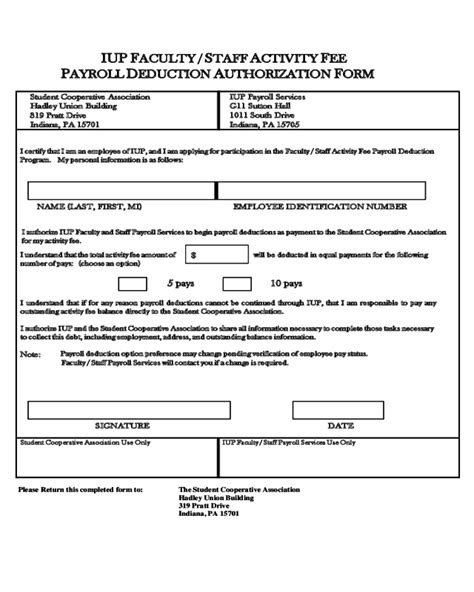 payroll section department of education payroll deduction authorization form indiana edit