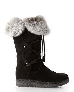 italian designer boots real fur trim wedge boots