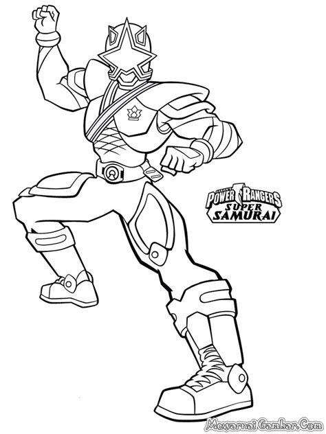 Gambar Mewarnai Power Ranger | Mewarnai Gambar