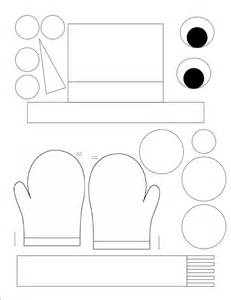 snowman paper crafts template