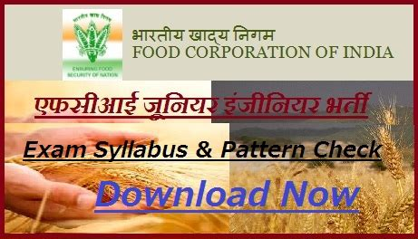 fci junior engineer syllabus  je steno typist exam pattern  hindi