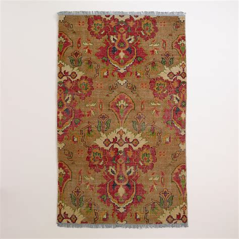 World Market Area Rugs Ophelia Floral Knotted Wool Area Rug World Market