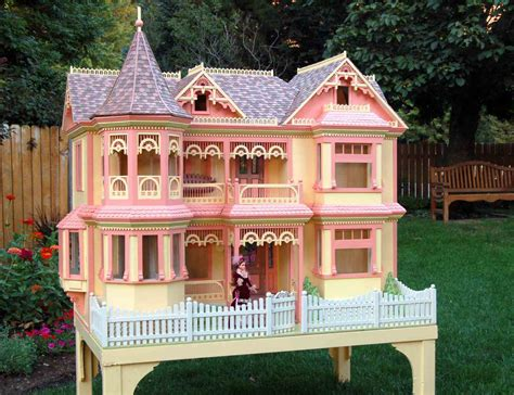 barbie doll house pics 04 fs 152 victorian barbie doll house woodworking plan woodworkersworkshop
