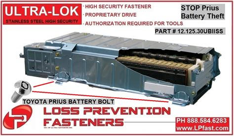 Toyota Prius Battery Pack Prius Security Battery Bolts
