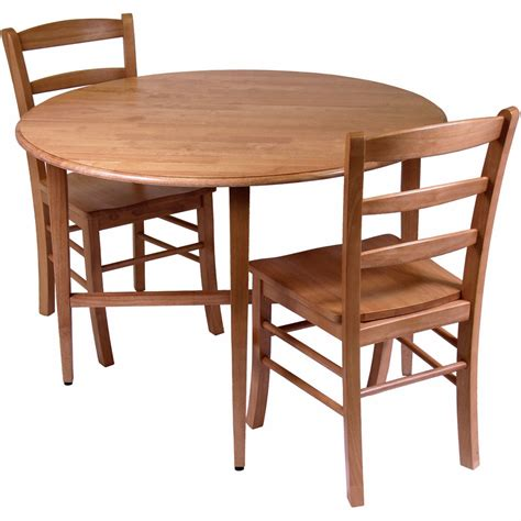Drop Leaf Dining Tables And Chairs Drop Leaf Dining Table And Chairs Set Of 3 In Dinette Sets