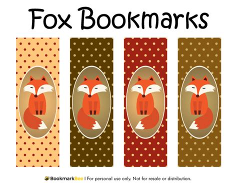 free printable bookmark generator free printable fox bookmarks each bookmark features a red