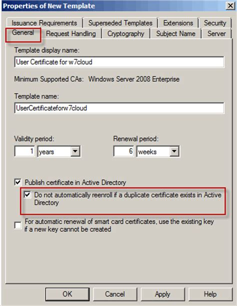 Active Directory Certificate Templates by Auto Enrollment Of User Certificate In Active Directory