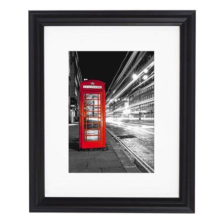 10 X 13 Matted To 8x10 - 11x14 decorative black picture frame matted to display