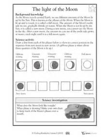Science worksheets science lessons schools ideas moon worksheets moon