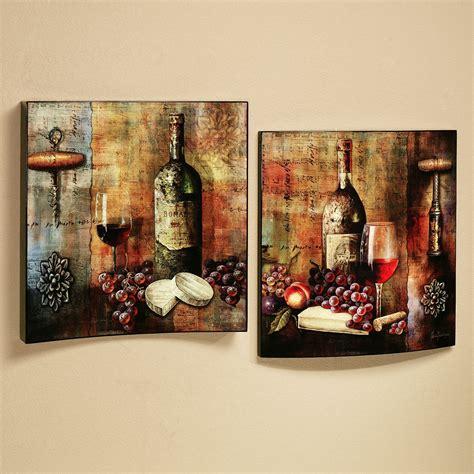 vineyard wine tasting wall art set multi jewel set