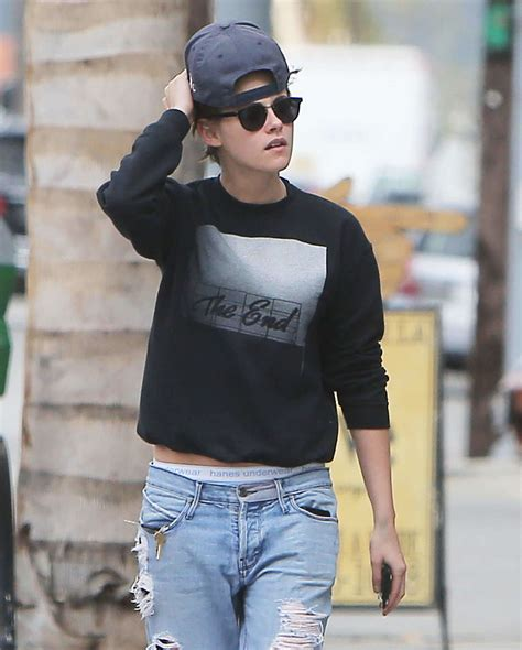 kristen stewart looks attractive with tomboy style itomboys