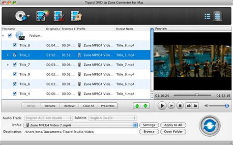 dvd format converter mac tipard dvd to zune converter for mac transfer and
