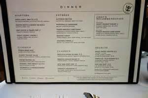 new dining room menus on oasis of the seas