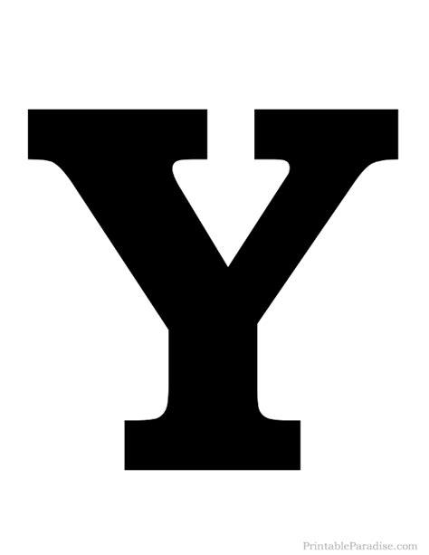 printable letter y printable letter y silhouette print solid black letter y
