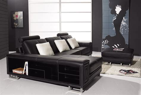 Black Leather Decor by Decorating Your Living Room With Black Leather Furniture